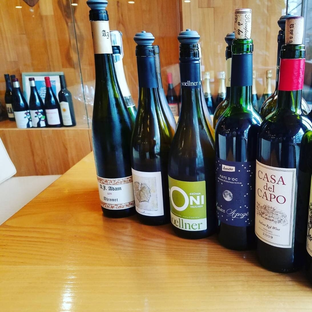 We have abundant selection of wines of sommelier