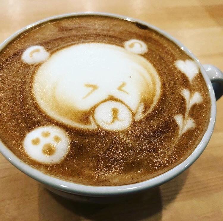 可愛いカフェラテアート