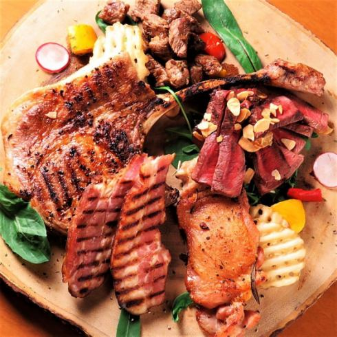美味的葡萄酒和肉類讓您心滿意足。由Motoyama的成年人收集的主要肉類主題★