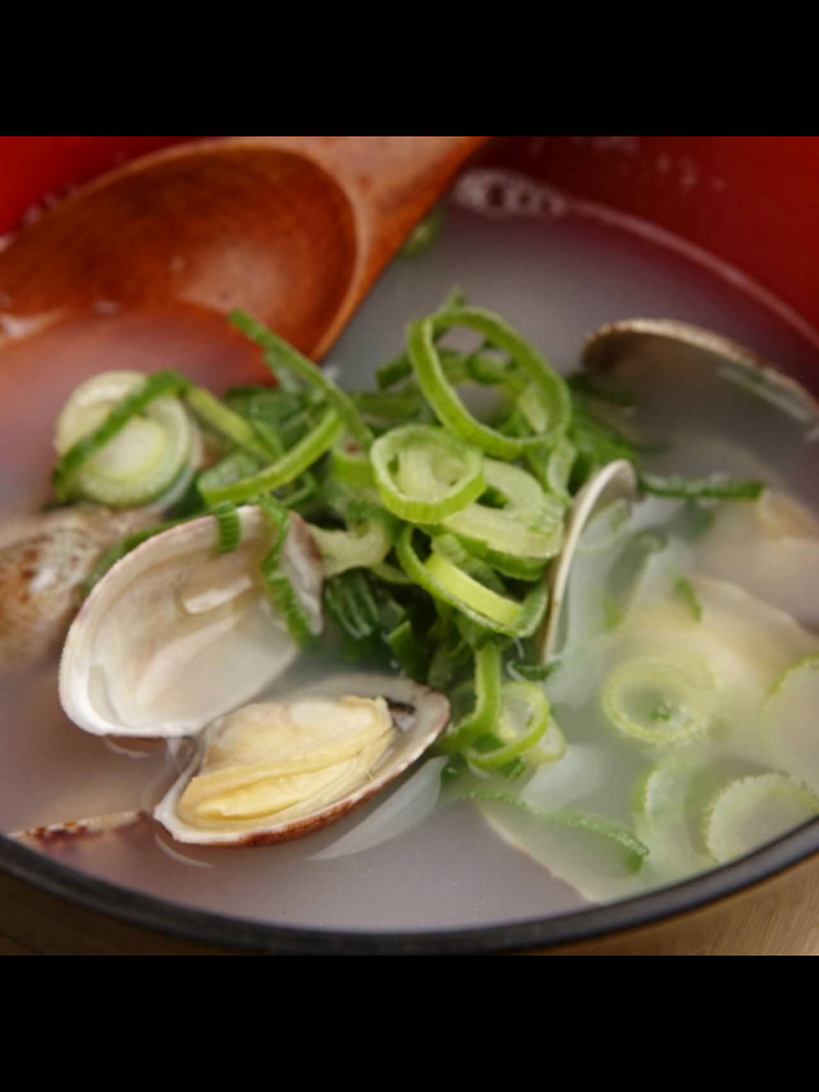 蛤蜊酒/味噌汤