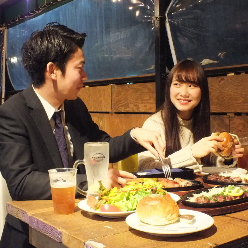 Dating at the terrace seat ♪