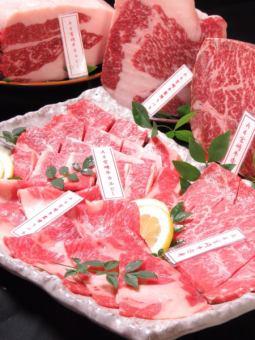 """""""週末""""[C課程] A +宮崎牛肉烤肉時間無限暢飲所有你可以喝4500日元(含)"""