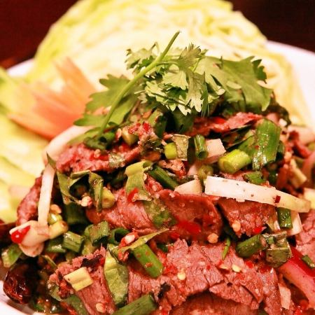Nua · Nam Toc (beef's Isan style salad)
