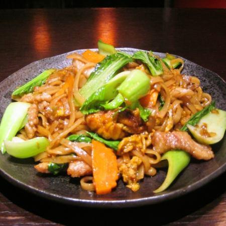 Pac-Shiu (soy sauce flavor sweet fried noodles)
