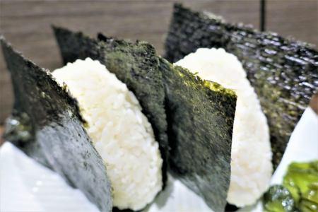 Onigiri (salmon · plum · funny · caterpillar)