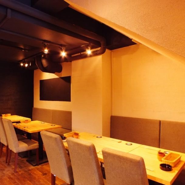 ★ 2 people ~ / table booth boasting atmosphere ★ table seat can be used for 2 ~ 12 people! It is a seat of recommendation that you can enjoy both chic in-store and friendly staff ♪ fun sketching for everyone Let's eat shabs ♪