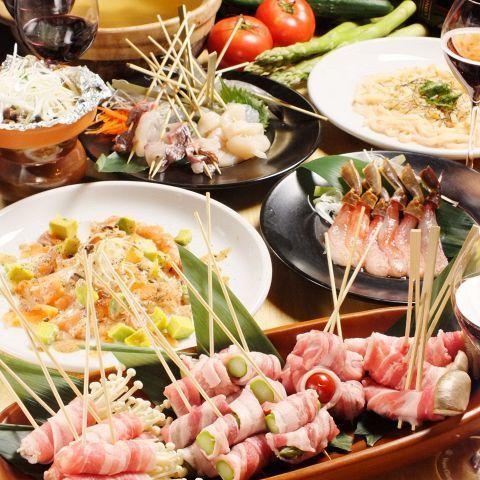 Skewer Shabu 【Banquet Course】 4500 yen (excluding tax) ~