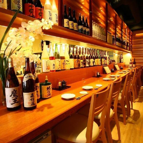 櫃檯是一個特殊的座位。在您面前以最好的款待烹製本季的食材。熱情的客戶服務,也銷售Teraya!