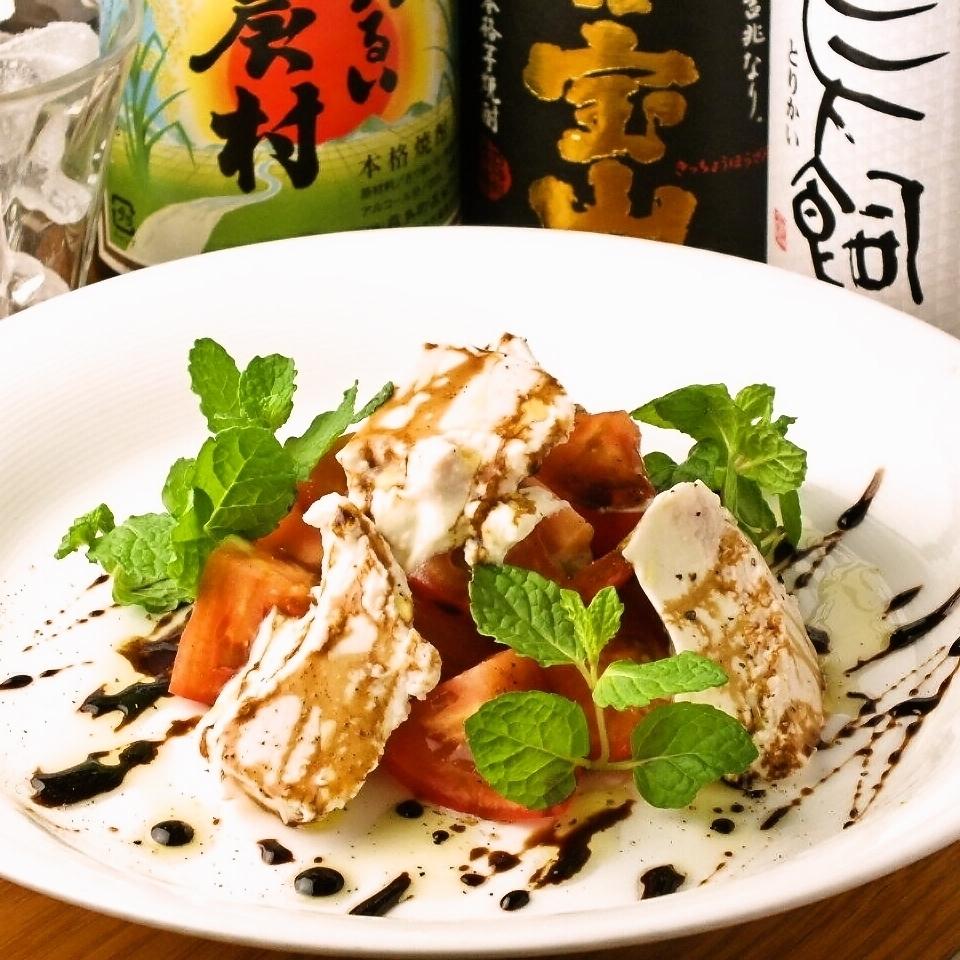水果番茄和奶酪豆腐沙拉