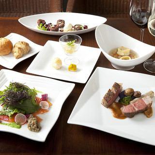【午餐套餐·3,800日元】肉菜/鱼菜W主前缀午餐