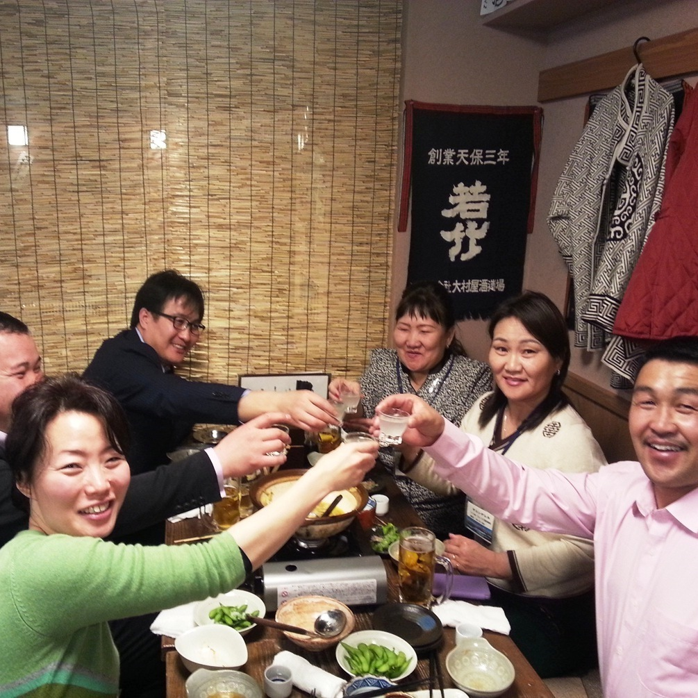 【Banquet Landscape】 Cheers with sake on everyone ☆