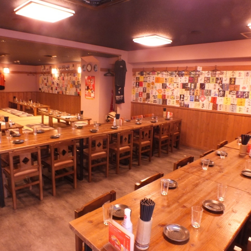 You can rent it for over 50 people! You can choose both type of table and osaka! Fully monitored ♪