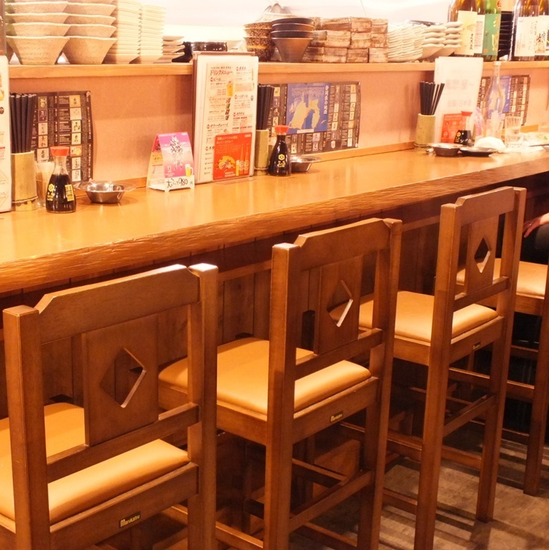 Ideal for drinking alone ♪ counter seat ♪