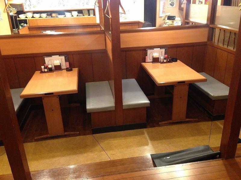 如果你是一个私人房间风格的桌子,你可以花♪私人时间与2至4人♪