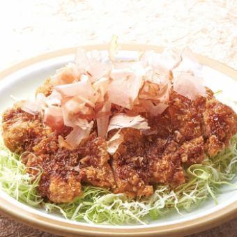 Japanese style chicken cutlet