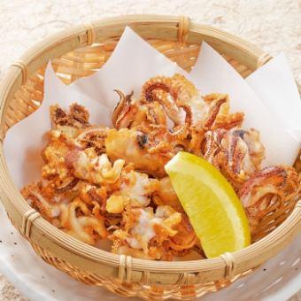 Deep fried shrimp legs