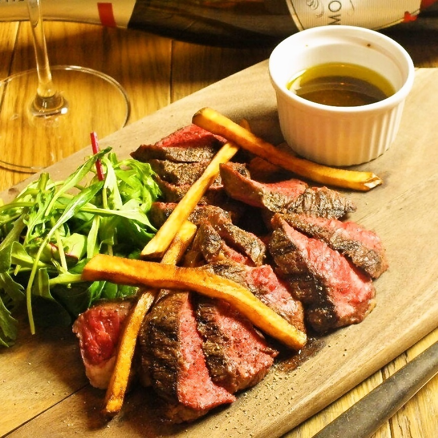 Grilled beef tail flap