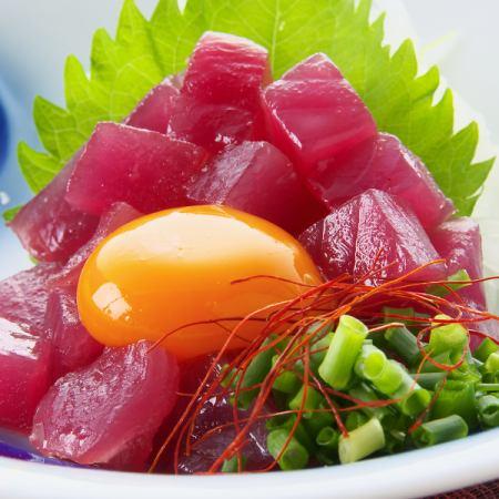 Bonito Yukke / Yukke (Tsukimi or Tororo)