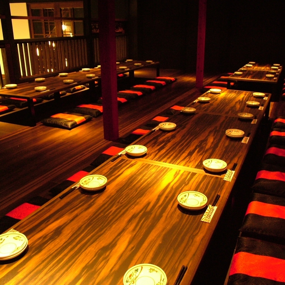 【2nd Floor Floor】 Up to 40 Lounge Floor Chairs for up to 30 people (Up to 30 people), Osaki Half Single Room (4 people × 3 rooms), digging tatami room (Up to 24 people) Thank you!
