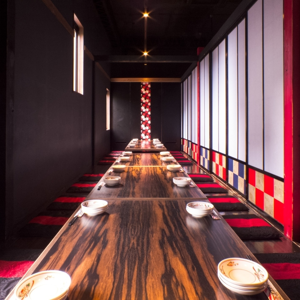【2樓樓層】腳部舒適輕鬆,挖掘榻榻米房間。因為在宴會受歡迎所以預約早!