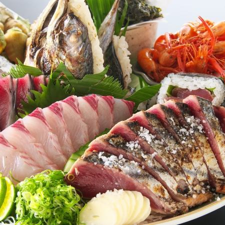 Bonito! Utsbo! Shimanto chicken! Ideal for hospitality! 【Shimanto Farewell Course】 All-you-can-drink for 2 hours 6000 yen
