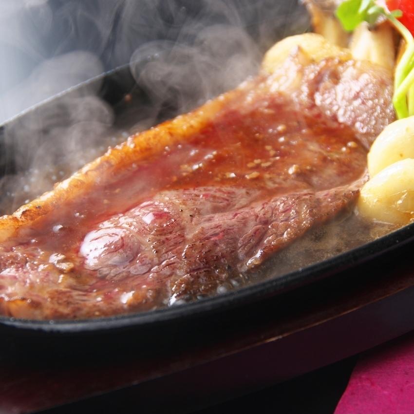 Steel plate steak / iron plate steak Foie gras