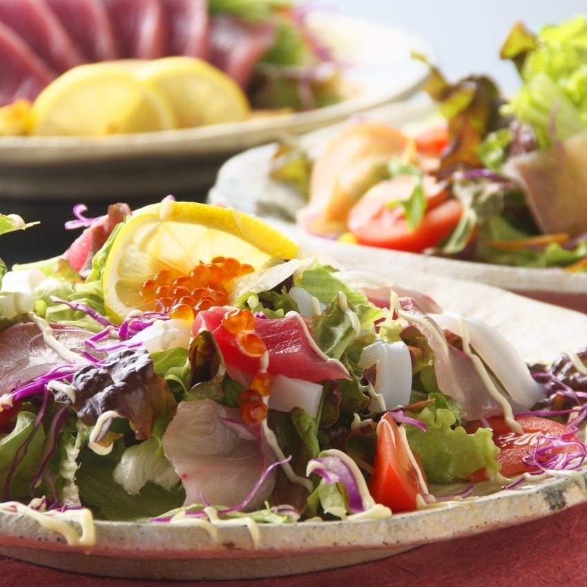 Kochi tomato salad / garlic fragrant raw ham salad