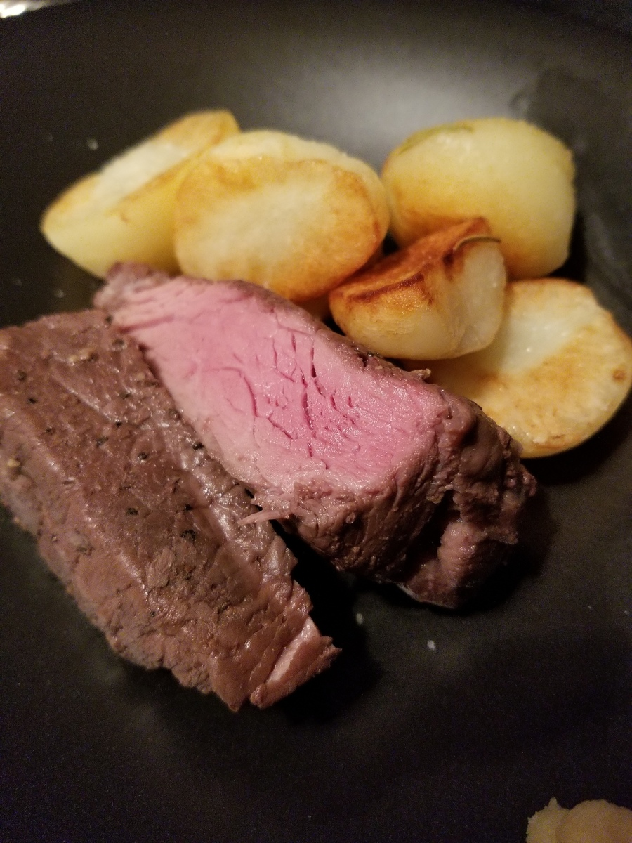 Australian beef lamp meat roasted with potato sauteed