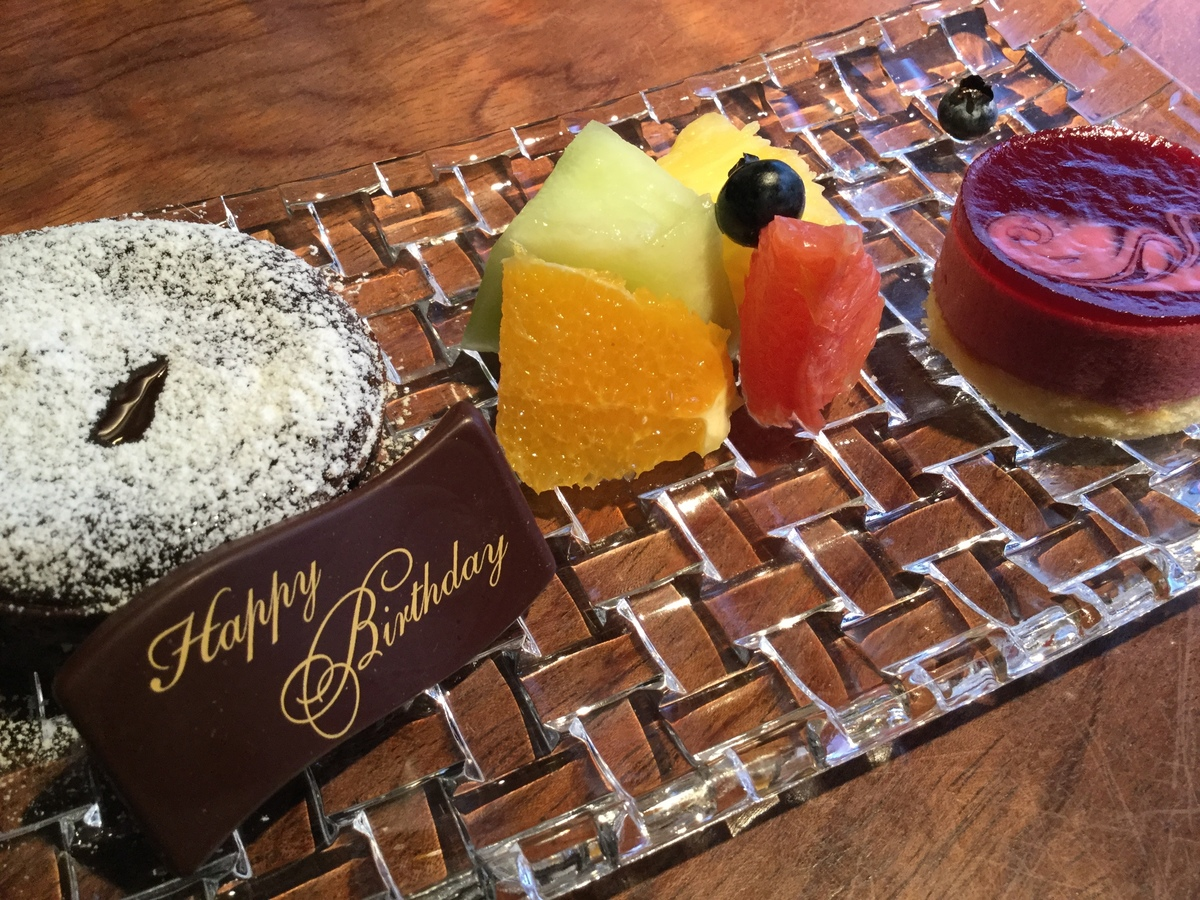 Birthday · Desert plate <reservation necessary until the previous day>