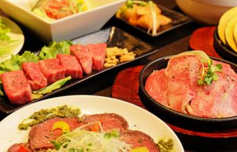 Easy banquet! Meat BAR flow · Light course 【All 12 kinds of dishes over 200 kinds of drinks you can drink】 4000 yen