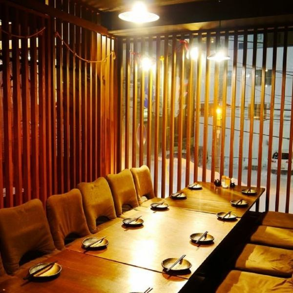 There are also semi-private rooms recommended for various banquets.Take off your shoes and relax relaxingly The owner's seat is an early reservation is recommended.