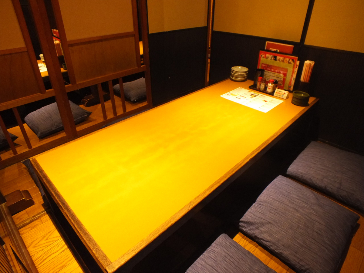 Private room for 6 people is also available.