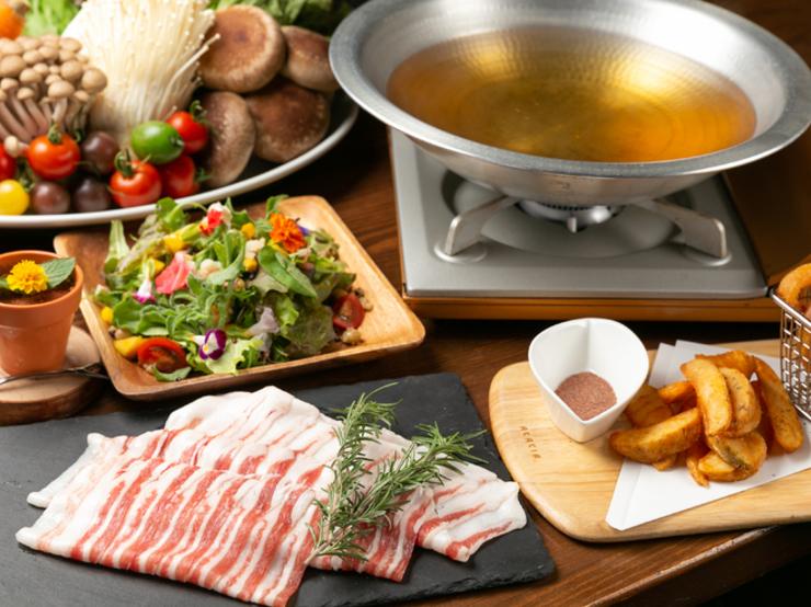 Iberian pork shabu-shabu hotpot