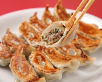 Grilled gyoza (6 pieces)
