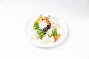 炒3种海鲜
