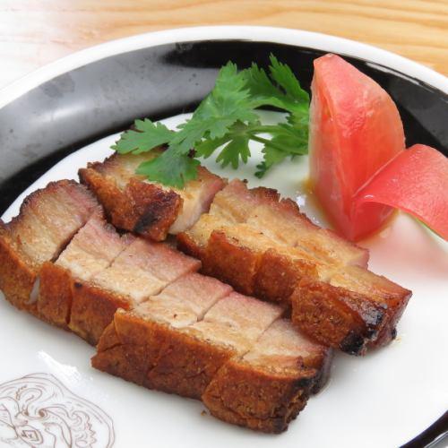 ガリガリ焼き豚肉