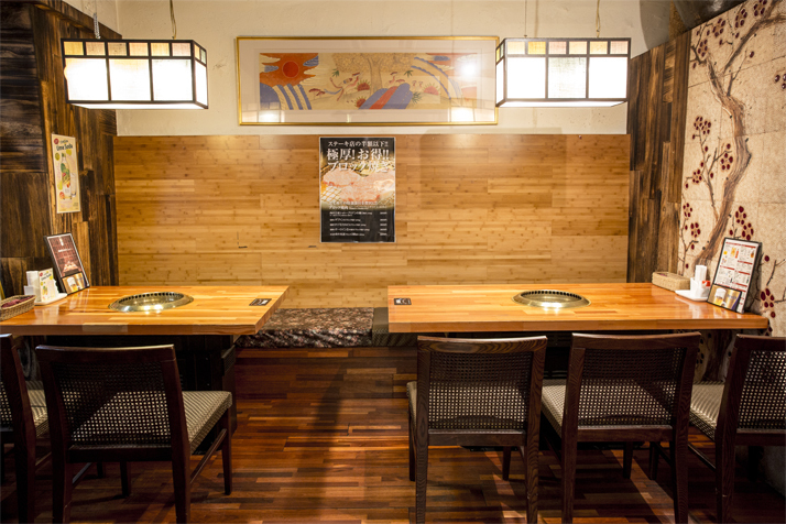【1st floor private room】 Maximum of 10 people.It is a table seat of 4 people and 6 people.