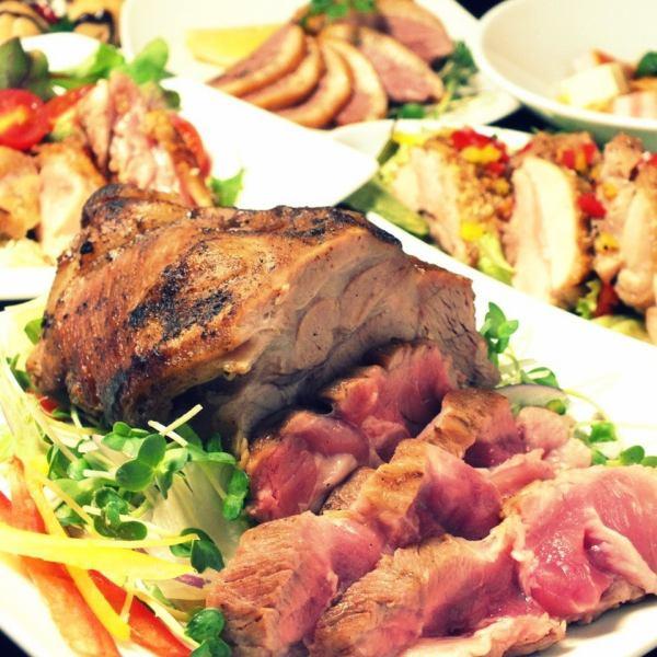 圧巻の肉盛り[120分飲み放題付]コース⇒全8品3850円