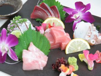 Assortment of sashimi platter 5 kinds