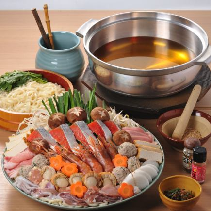 山海胡麻ちゃんこ鍋 飲み放題付き2980円より!