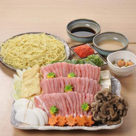 国産豚胡麻しゃぶ豆乳鍋 飲み放題付き2980円より!