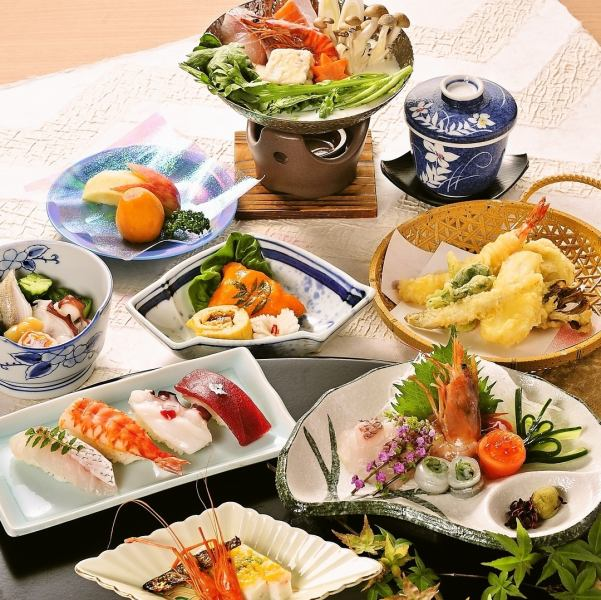 【Fresh seafood sent directly to the production area】 Kaiseki cuisine