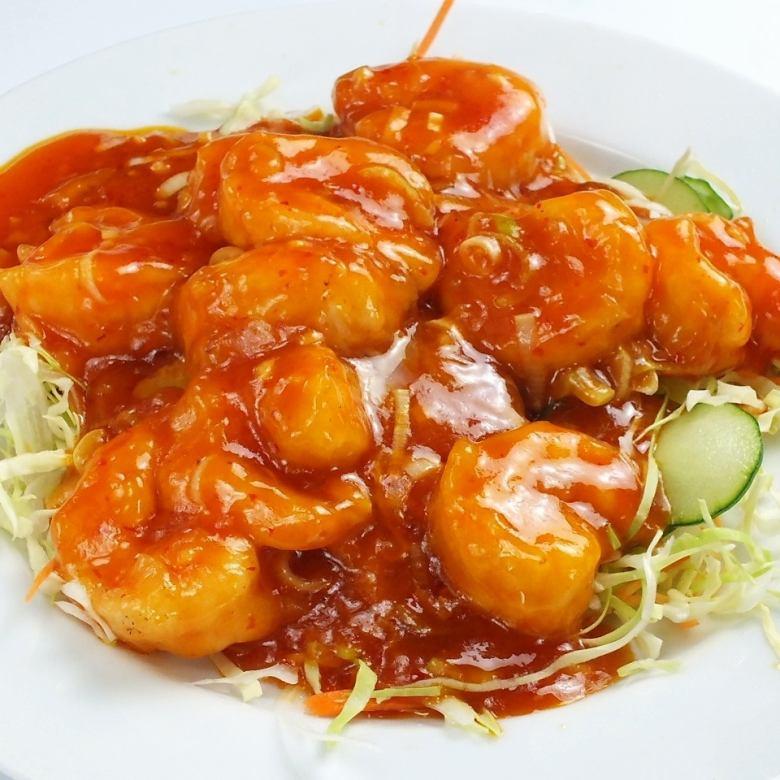 蝦的辣椒醬