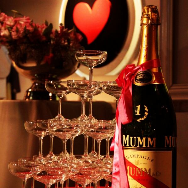 «Gorgeous !! the toast» champagne tower ♪