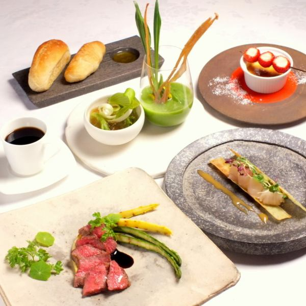 【Lunch course】 With dessert & coffee! Hors d'oeuvres, pasta, meat dish you can choose! In Gion full of Kyo emotion