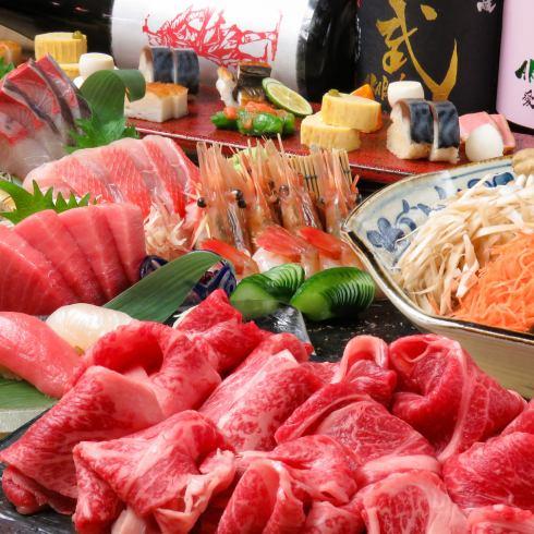 新鮮な魚介はもちろん、お肉や野菜にもこだわった料理が満載!宴会コースは2H4000円~