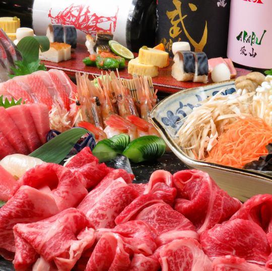 赤武全種類取り揃えております!宴会コースは2時間飲み放題付き4000円から贅沢7000円までご用意!
