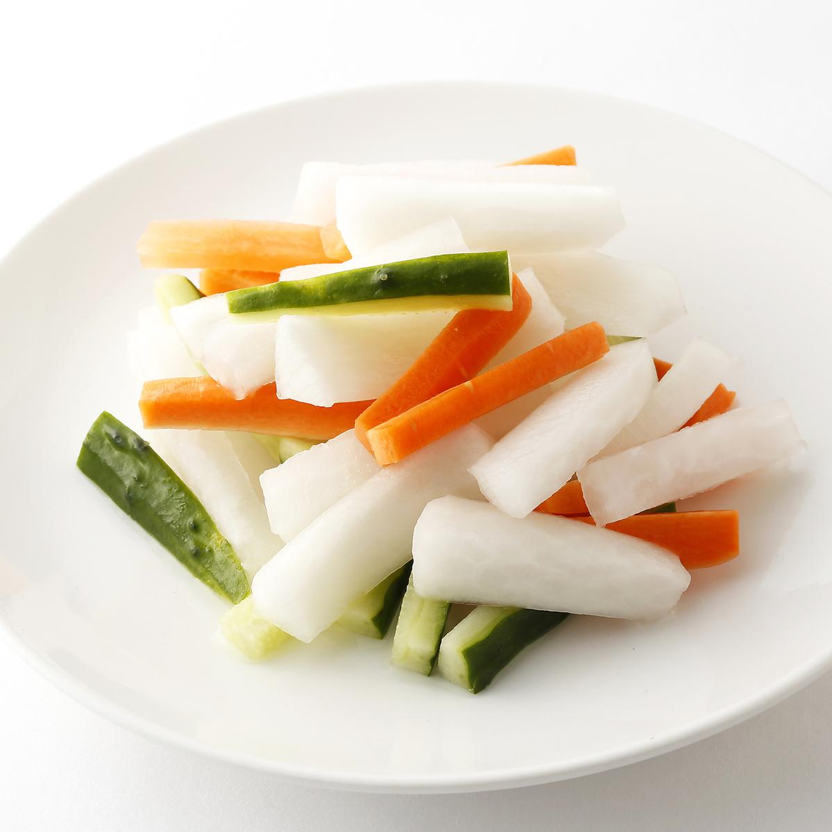 野菜の甘酢漬け/キムチ