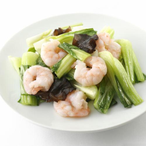 フカヒレと玉子の炒め/エビと青菜の炒め