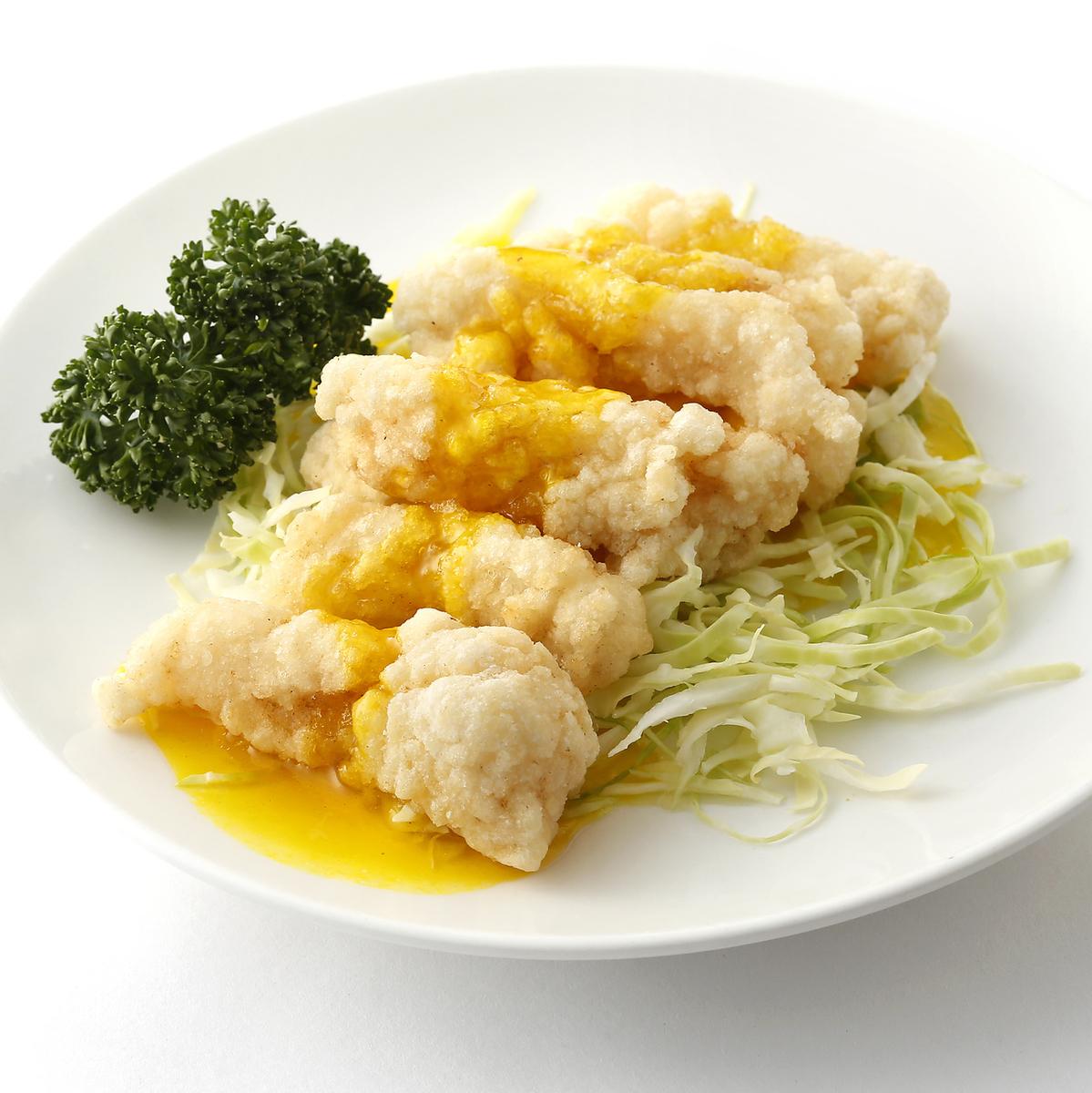 白身魚のチリソース煮/白身魚のレモンソース